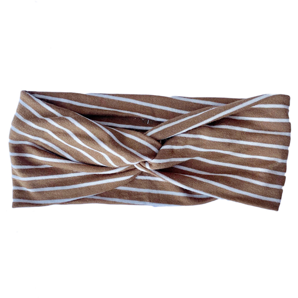 Camden & Friends Head Wrap headband in Fall Stripe