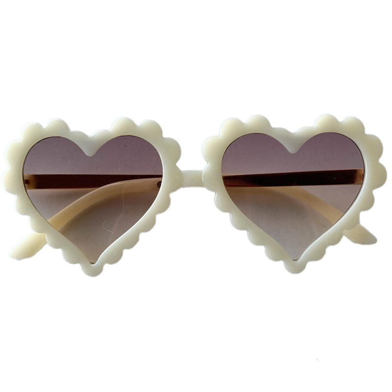 Sunnies for Sloane Cream Puff Scalloped Amor Sunnies