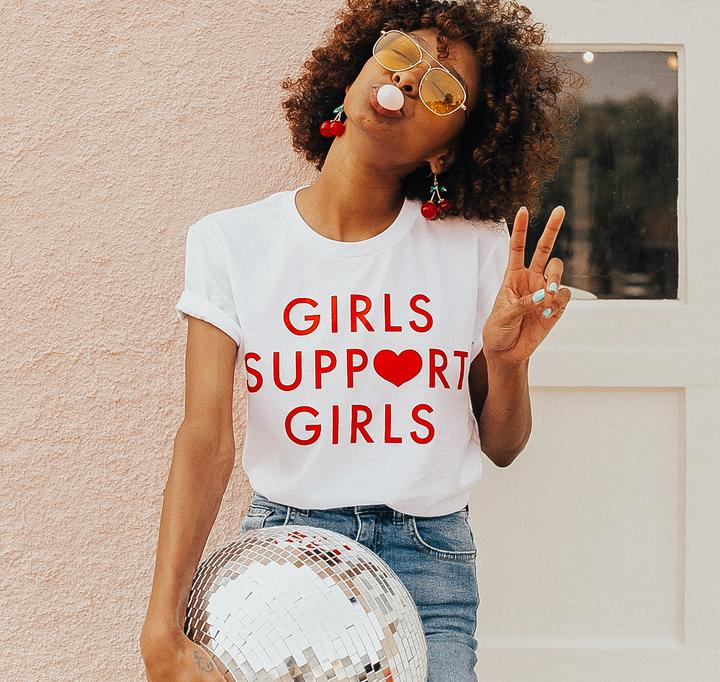 Daisy Natives Girls Support GIrls Tee in White | Sweet Threads