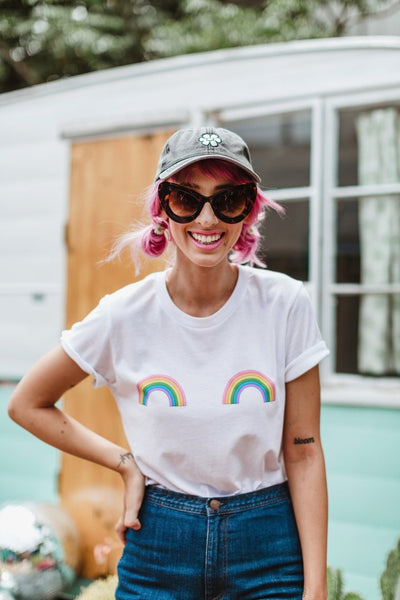 Daisy Natives Ta Ta Tee in Rainbow | Sweet Threads