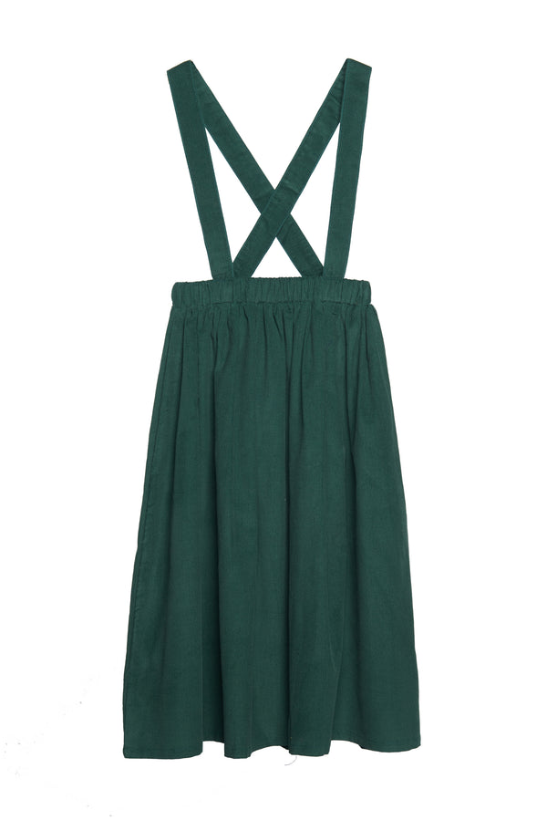 Wander & Wonder Pinafore Skirt in Pine Cord | Sweet Threads