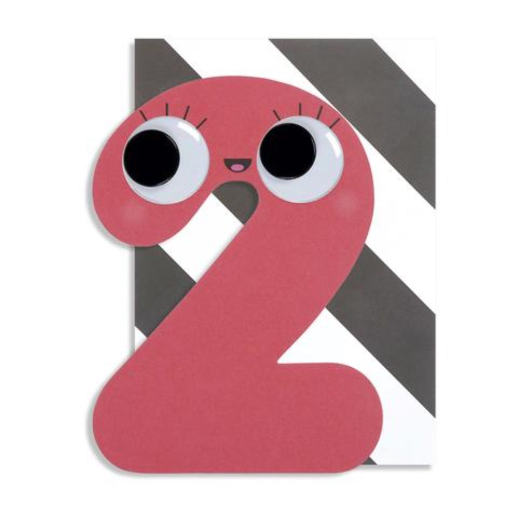 Pango Age 2 Googly Numbers Card