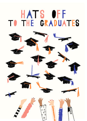 Mr Boddington CAPS OFF - GRADUATION GREETING CARD | Sweet Threads