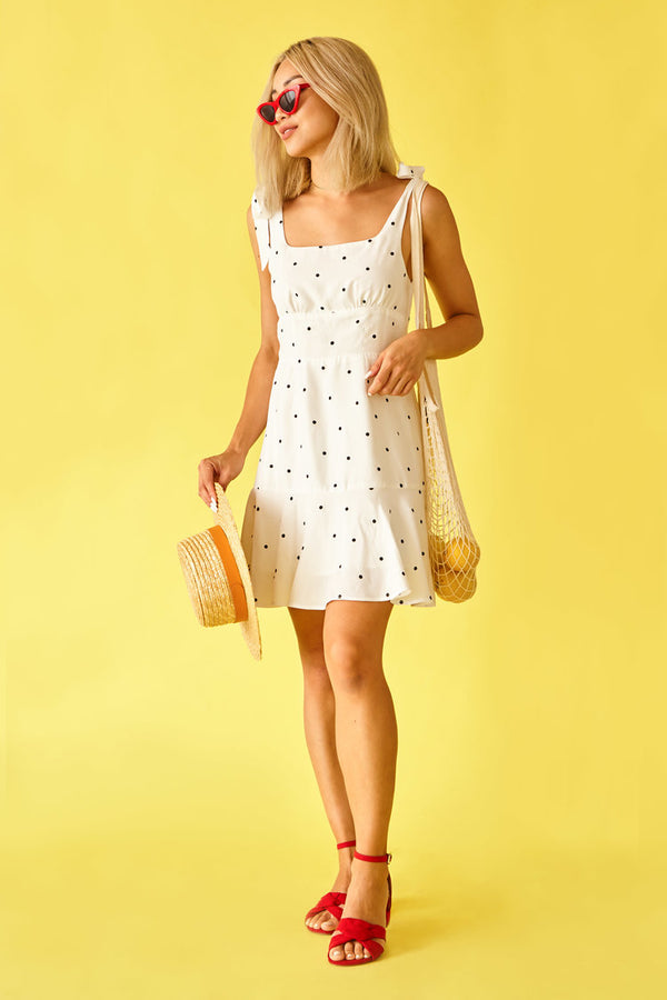 Sun Peony Coconut Charlotte Dottie Dress (ADULT) | Sweet Threads