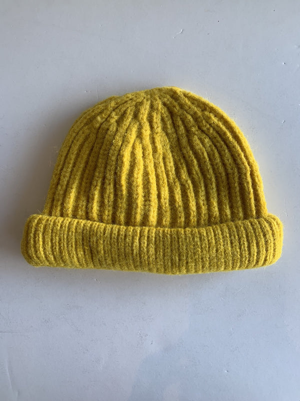 Toddler Knitted Beanie in Mustard