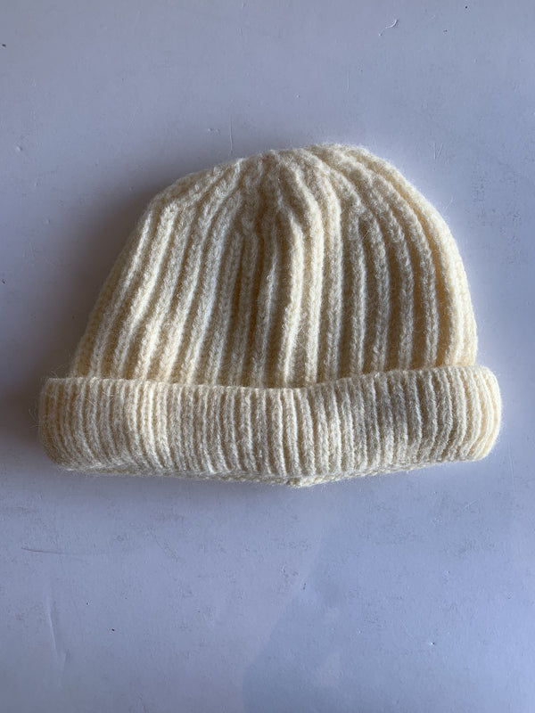 Toddler Knitted Beanie in Ivory