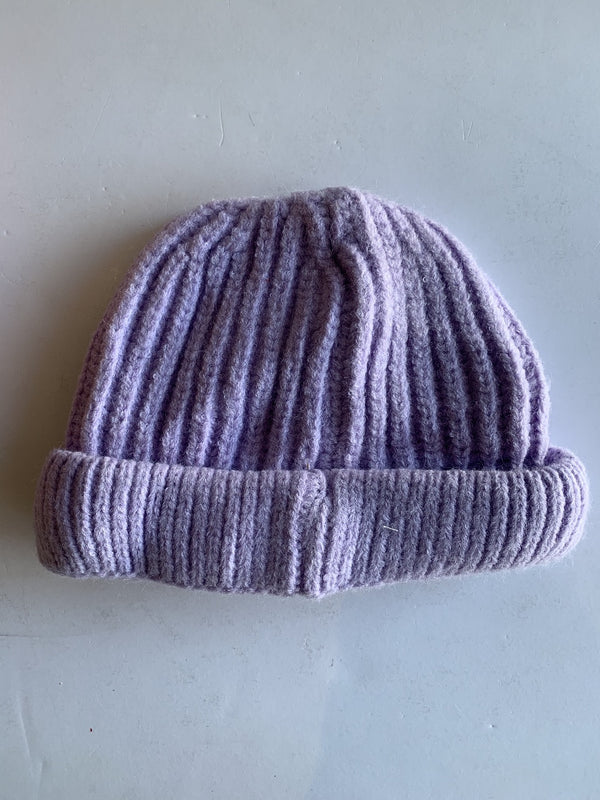 Toddler Knitted Beanie in Lilac