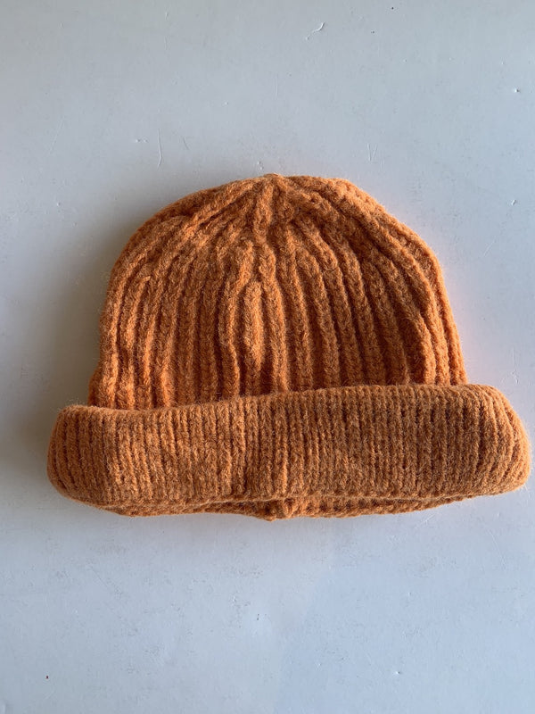 Toddler Knitted Beanie in Pumpkin