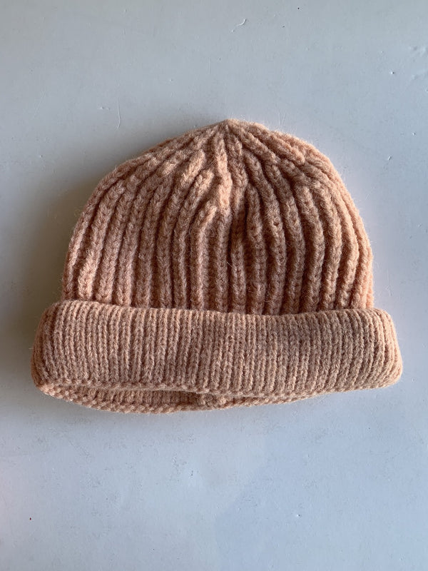 Toddler Knitted Beanie in Baby Pink