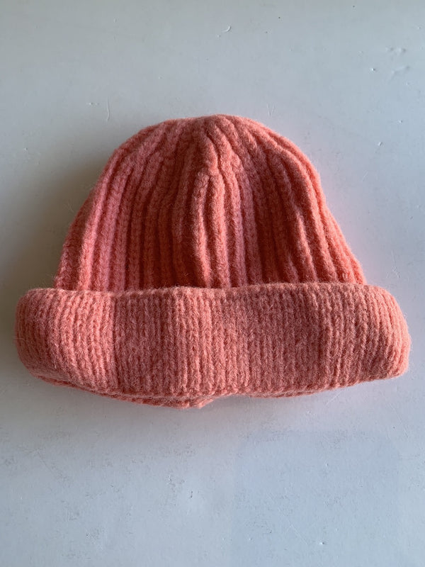 Toddler Knitted Beanie in Pink