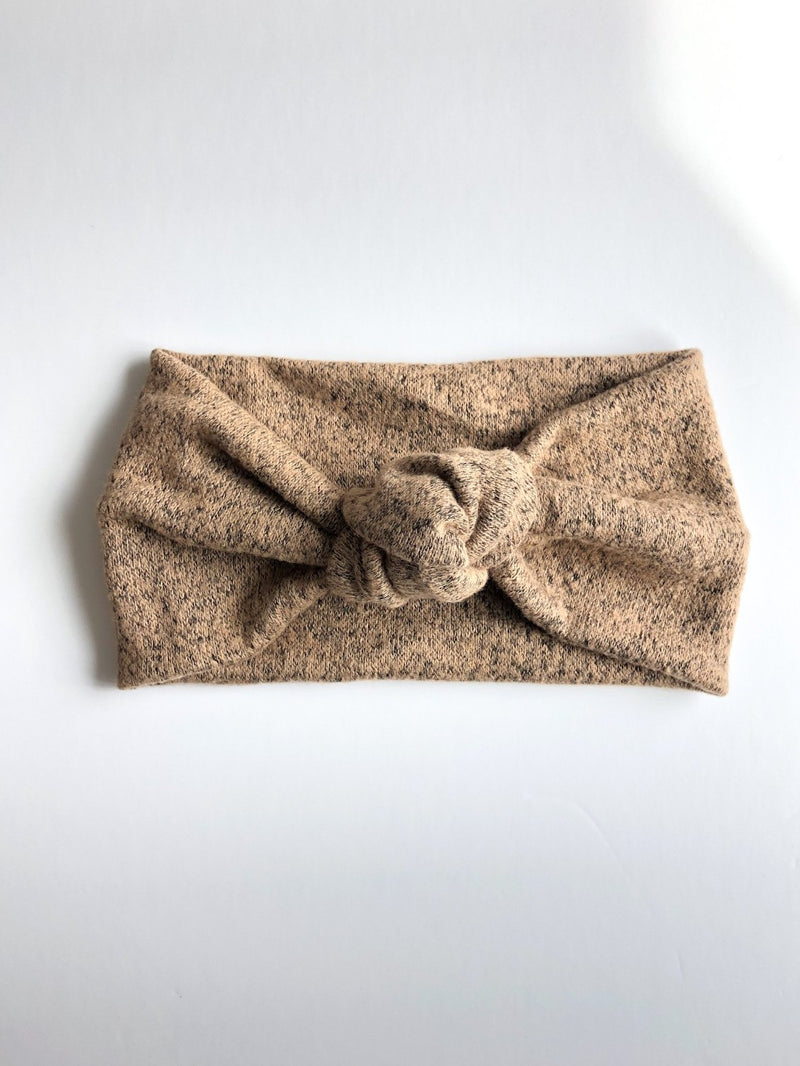 Camden & Friends Turban Headband in Speckled Brown