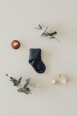 Jamie Kay  Charcoal Grey Marle Rib Socks  | Sweet Threads