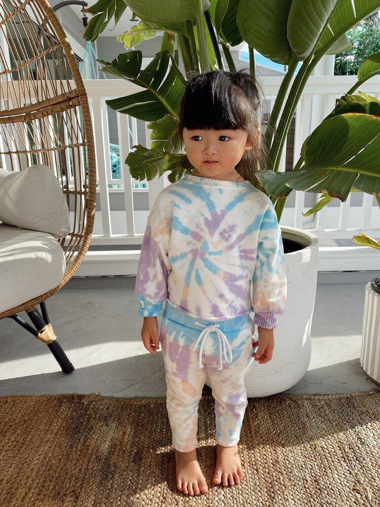 Sun Peony Coconut Sunday Unisex Sweatpants in Lavender/Sugar | Sweet Threads