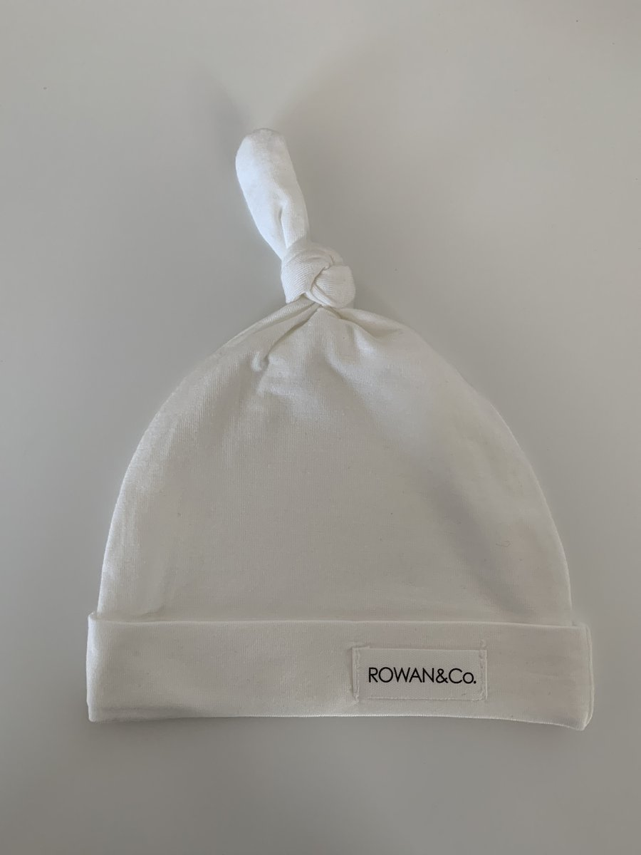 Rowan & Co Baby Beanie in Off White