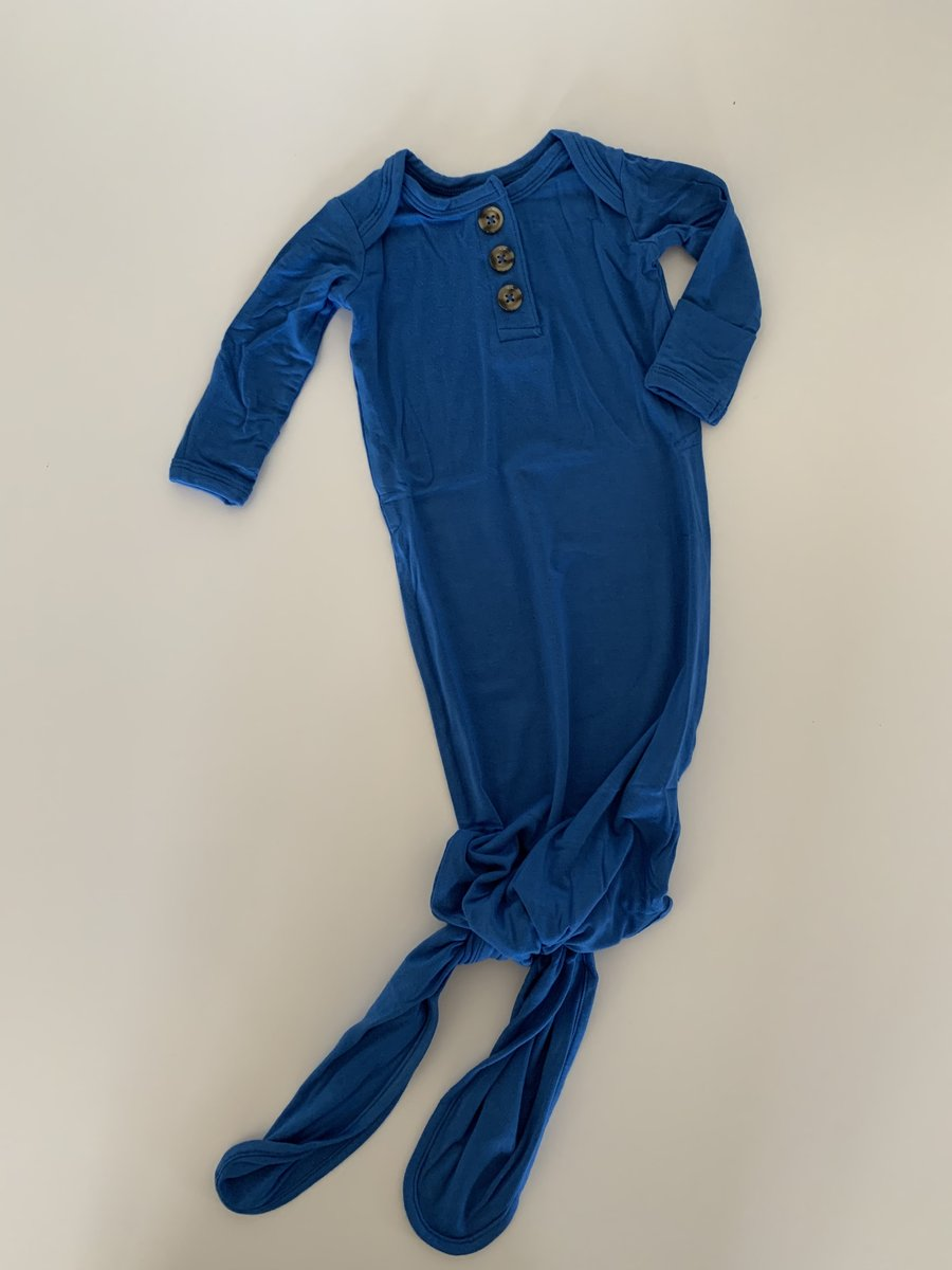 Rowan & Co Knotted Sleep Gown in Electric Blue