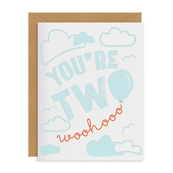 Inclosed Letterpress Co. You're Two | Sweet Threads