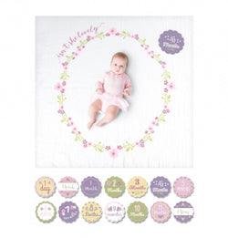 Lulujo Baby Isn't She Lovely Baby's First Year Blanket/Cards | Sweet Threads