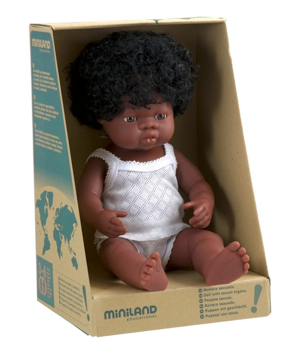 Miniland Baby Doll African Girl | Sweet Threads