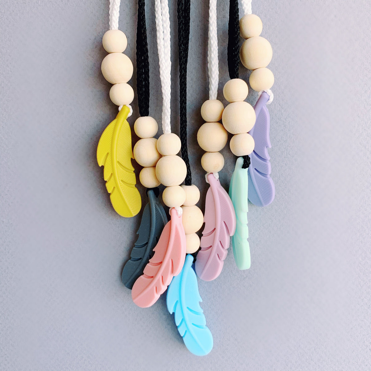 Love Knot Decor Feather Teether Assorted Colors