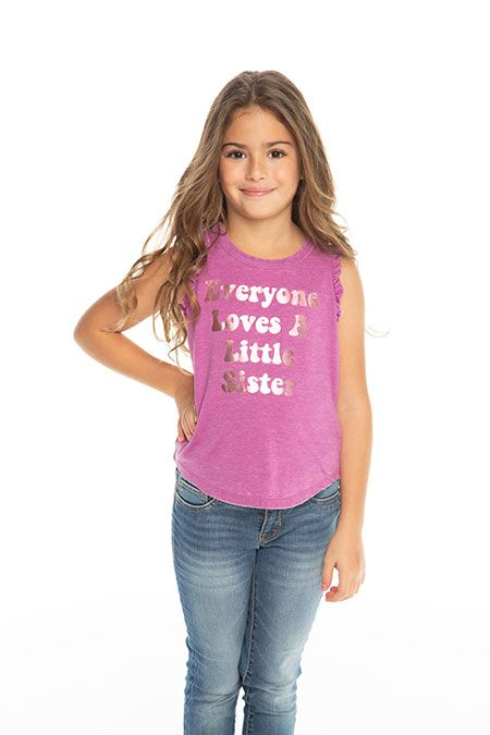 Chaser Everybody Loves a Little Sister Tee in Foxy | Sweet Threads