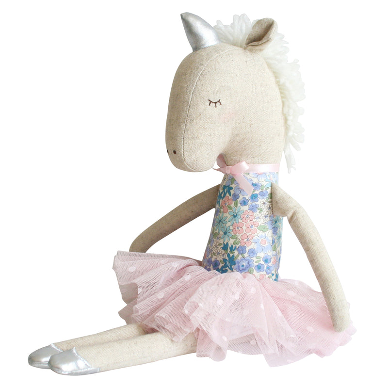 Alimrose Yvette Unicorn Doll in Liberty Blue | Sweet Threads