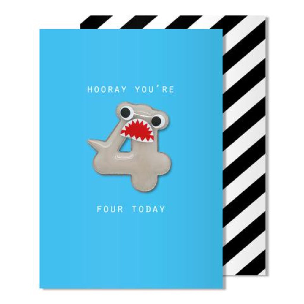 Pango Age 4 Shark Magnet Card