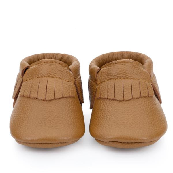 Birdrock Baby Moccasins in Classic Brown