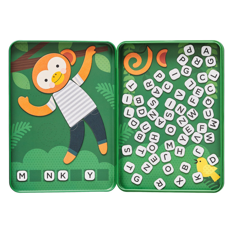 Petit Collage Magnetic Tin Game: Hang on Monkey | Sweet Threads