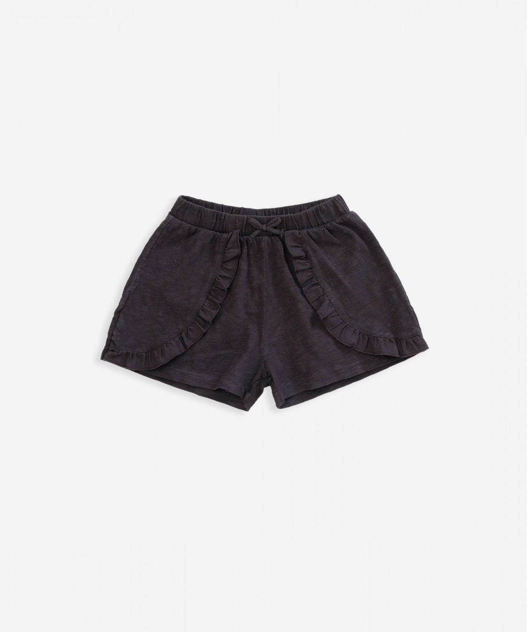 Play Up Ruffle Shorts in Basalt