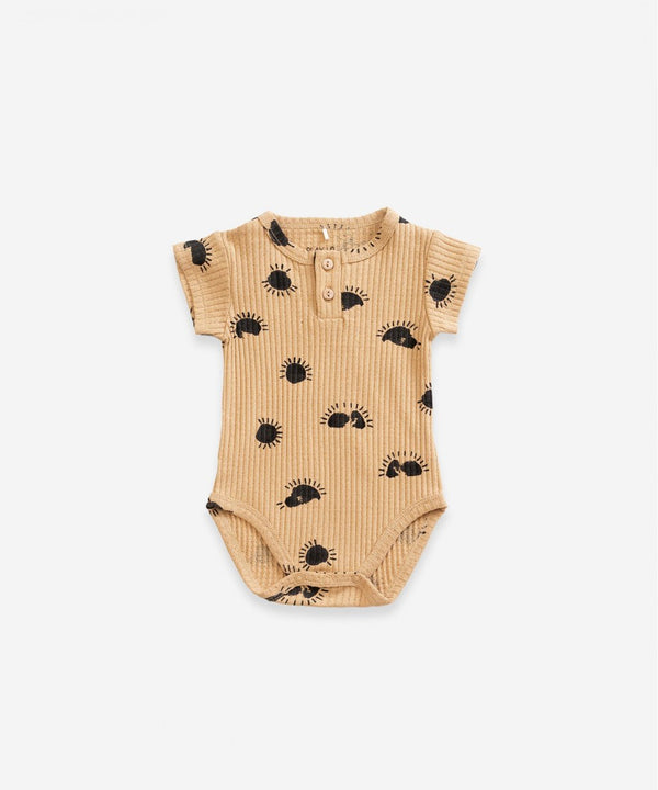Play Up Sun Printed Bodysuit in Raffia