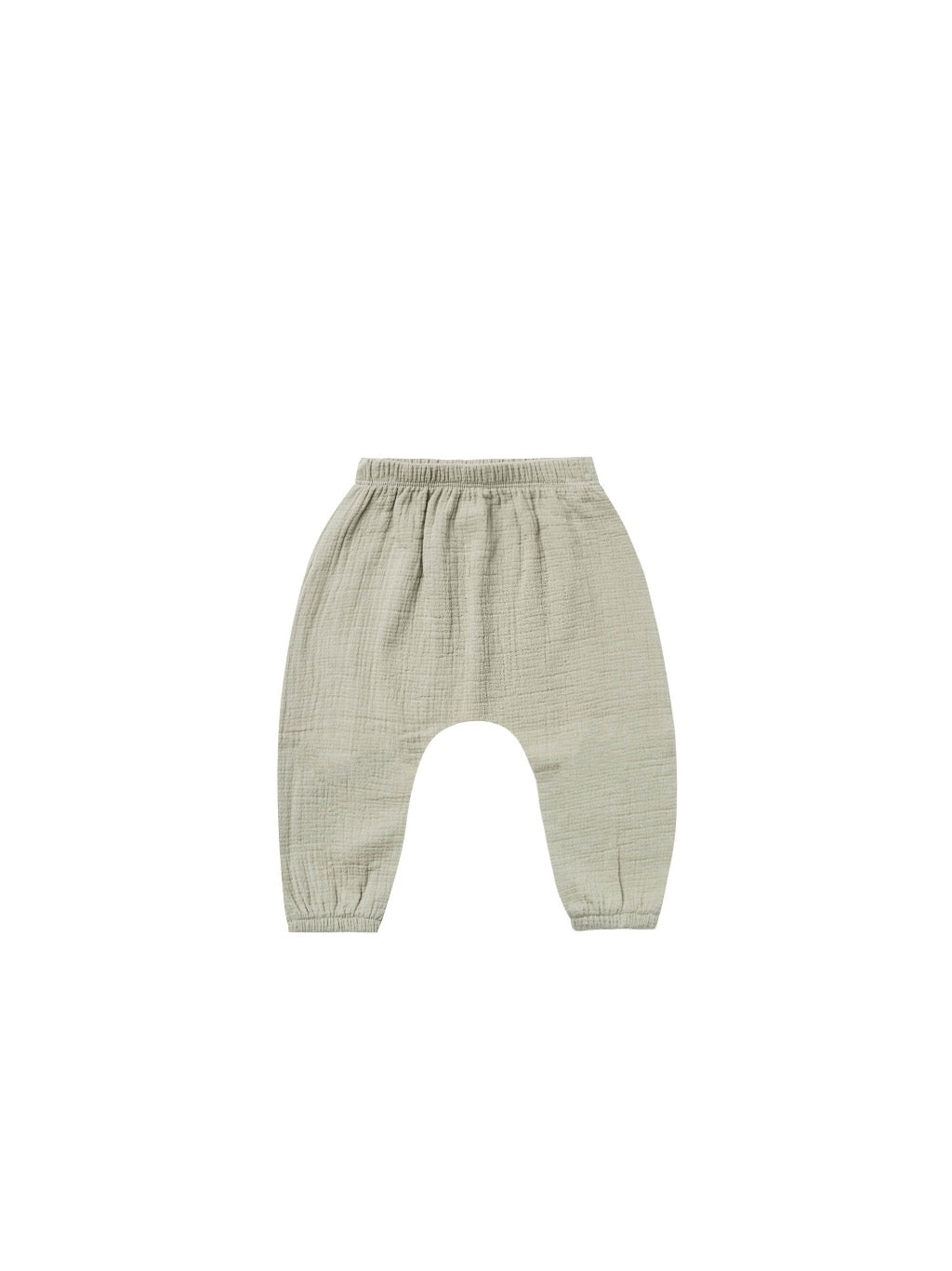 Quincy Mae Woven Harem Pant in Sage