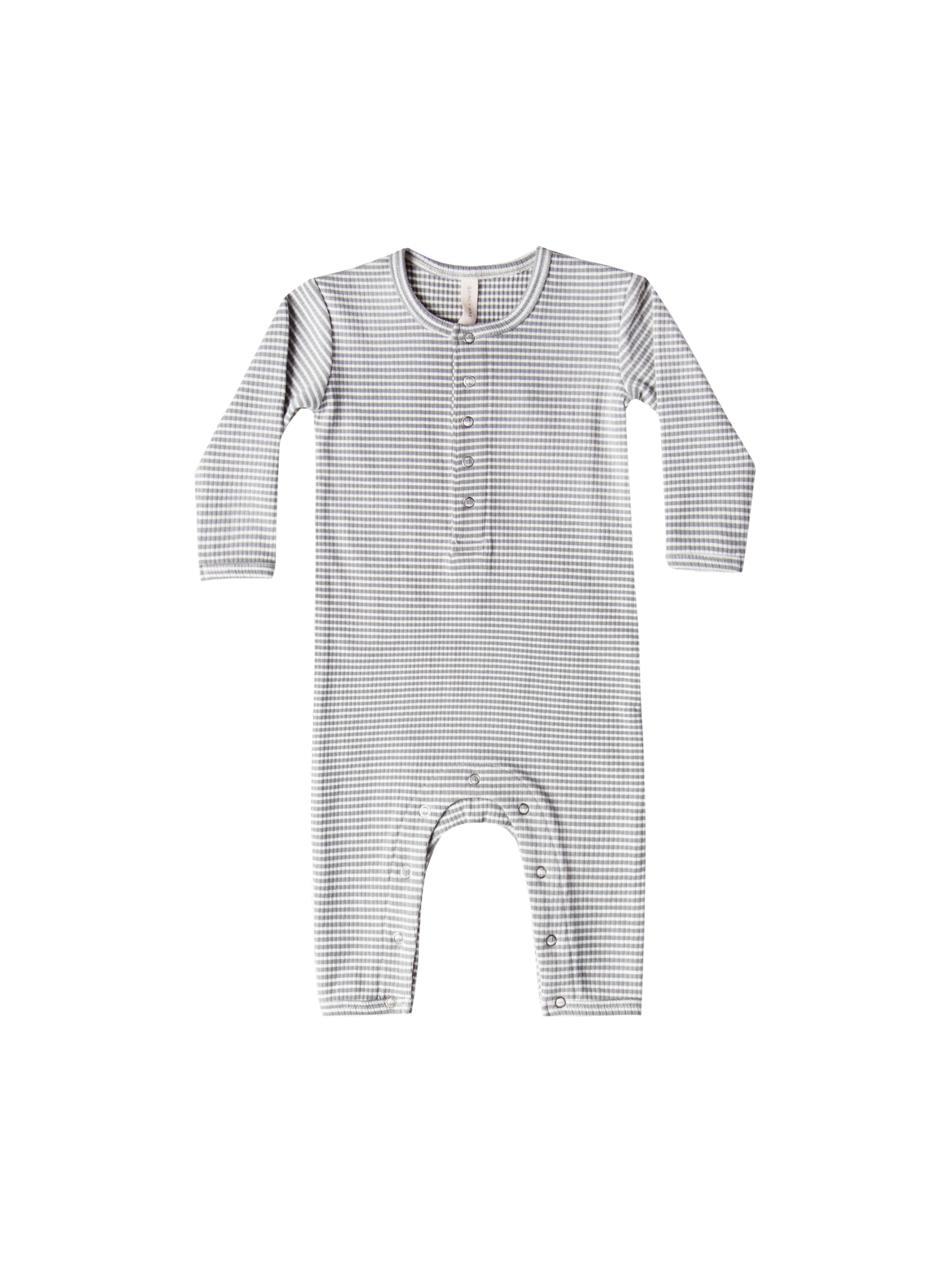 Quincy Mae Ribbed Jumpsuit in Eucalyptus Stripe