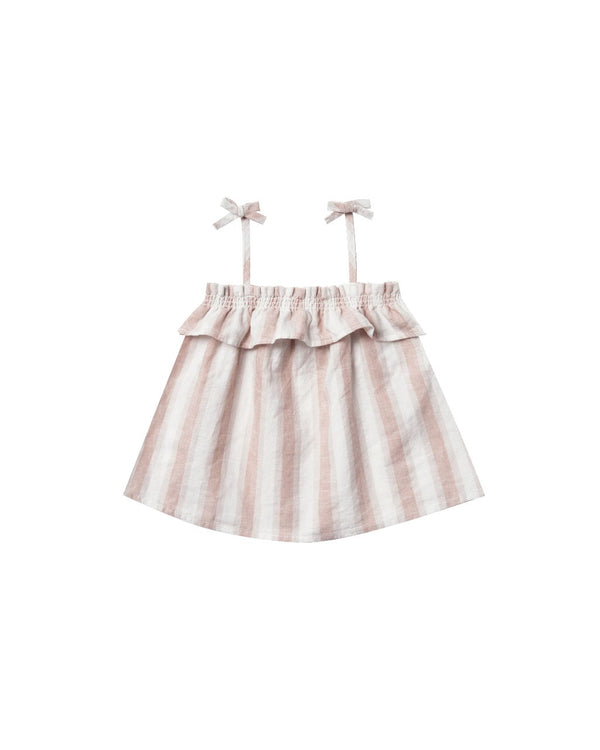 Rylee & Cru Ruffle Tube Top in Petal Stripe