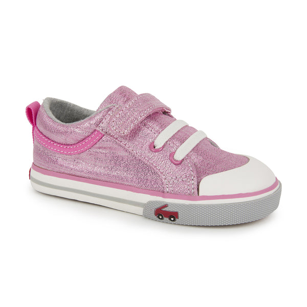 See Kai Run Kristin Shoes in Pink Glitter | Sweet Threads