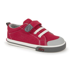 See Kai Run Stevie II Shoe in Red/Gray | Sweet Threads