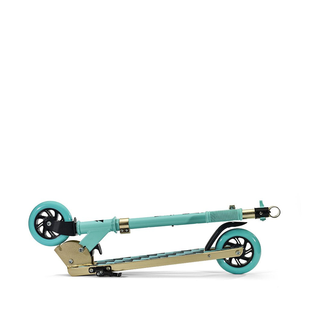 SVOLTA Legend 2-Wheel Kick Scooter in Aqua & Gold