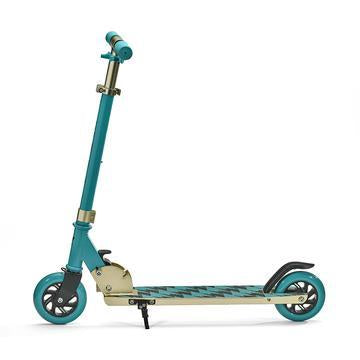 SVOLTA Legend 2-Wheel Kick Scooter in Teal & Gold