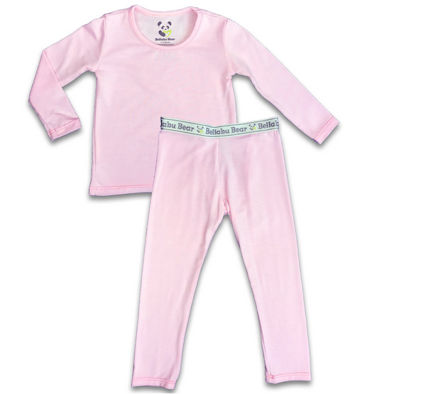Bellabu Bear Solid Pink Two-Piece Set | Sweet Threads