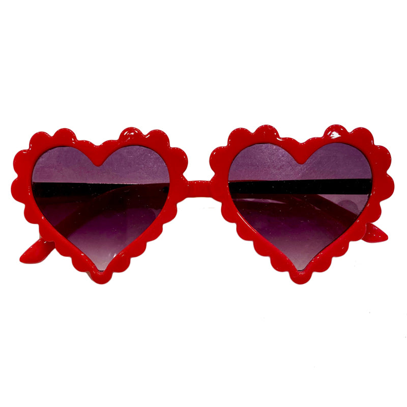 Sunnies for Sloane Red Scalloped Amor Sunnies
