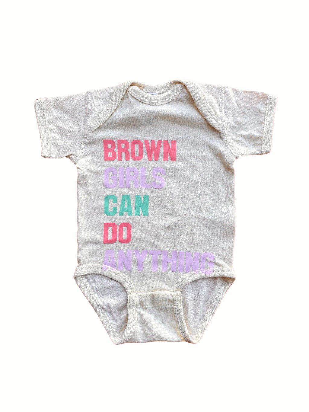 Typical Black Tee Brown Girls Can Do Anything Onesie