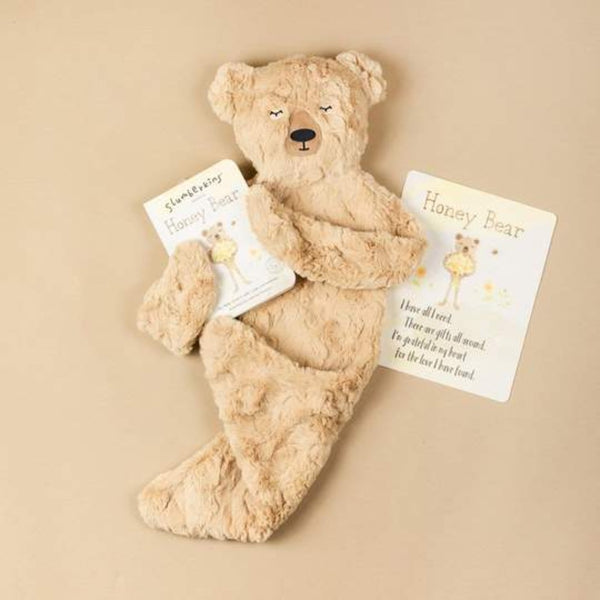 Slumberkins Honey Bear Snuggler - Gratitude Collection