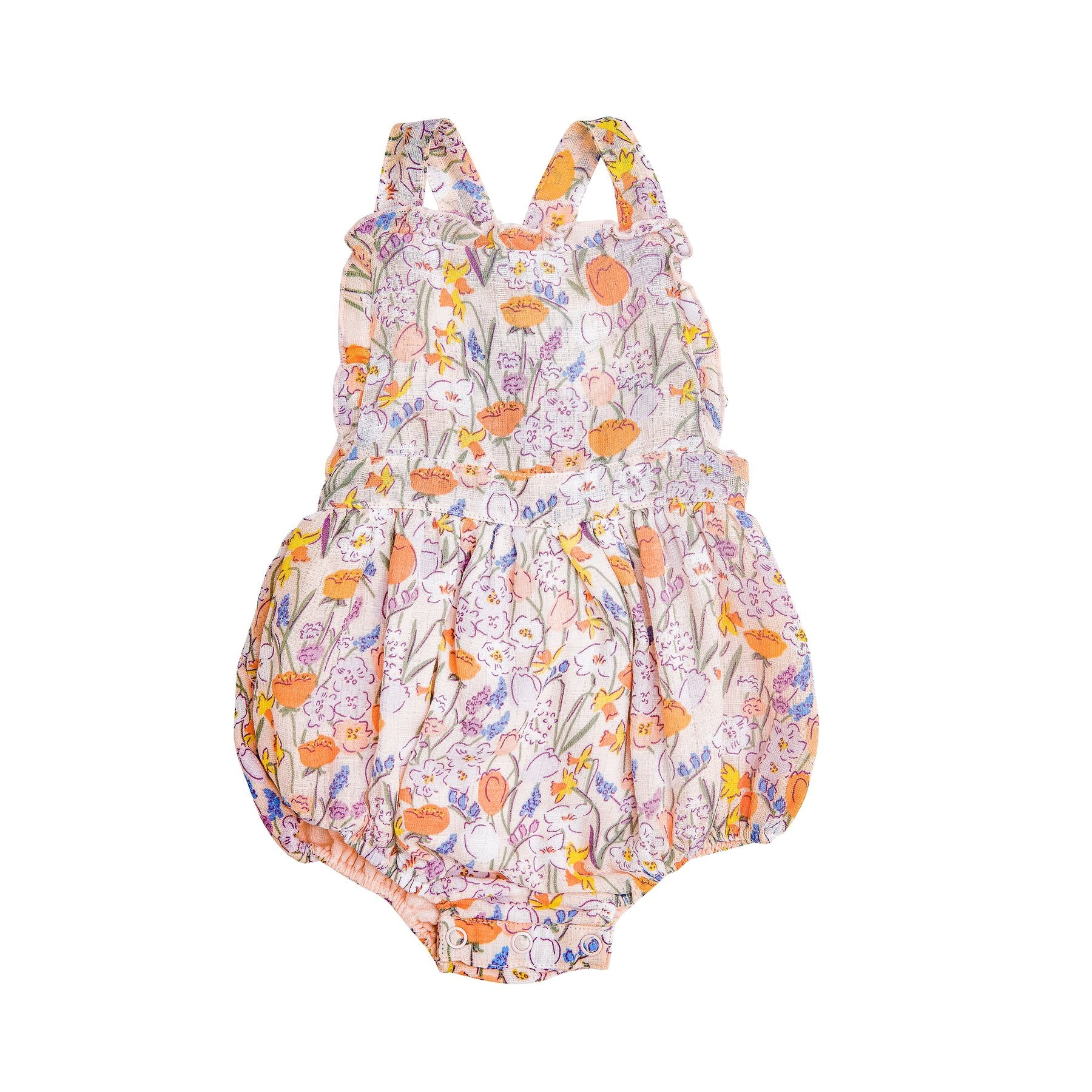 Angel Dear Springtime Floral Ruffle Bubble