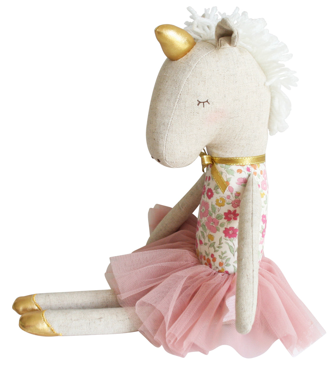 Alimrose Yvette Unicorn Doll in Rose Garden