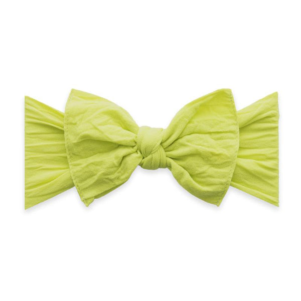Baby Bling Knot Bow in Citron | Sweet Threads