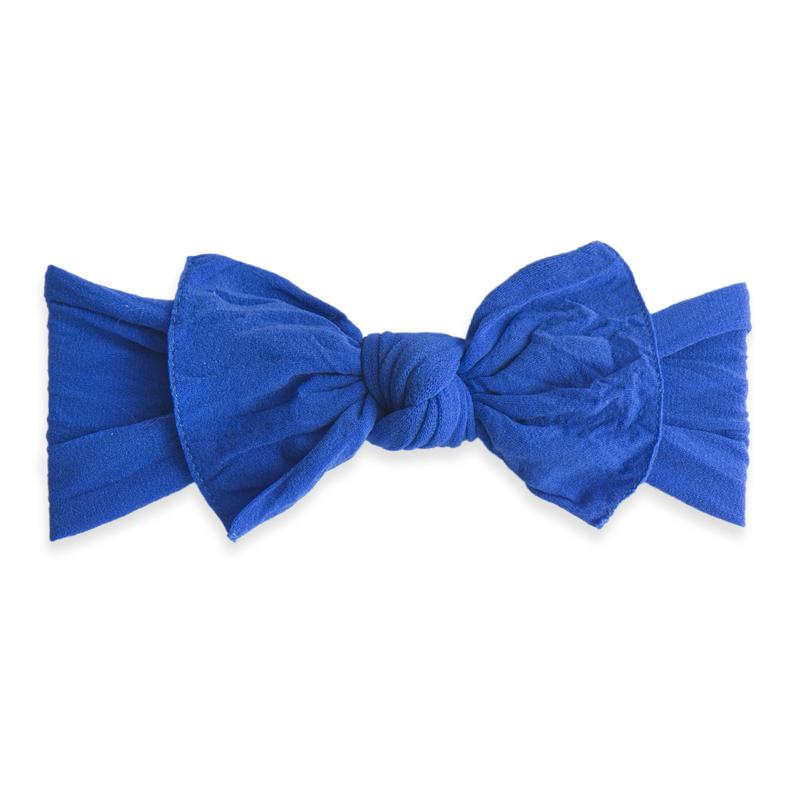 Baby Bling Knot Bow in Royal | Sweet Threads