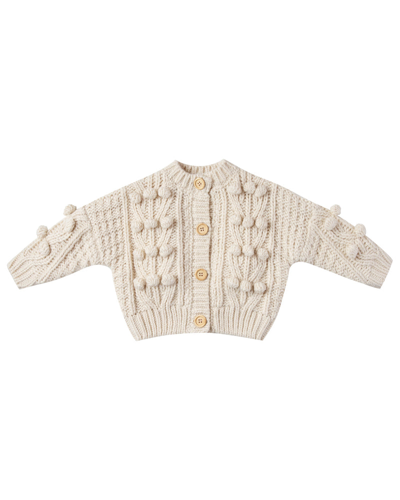 Rylee & Cru Bobble Cardigan in Natural