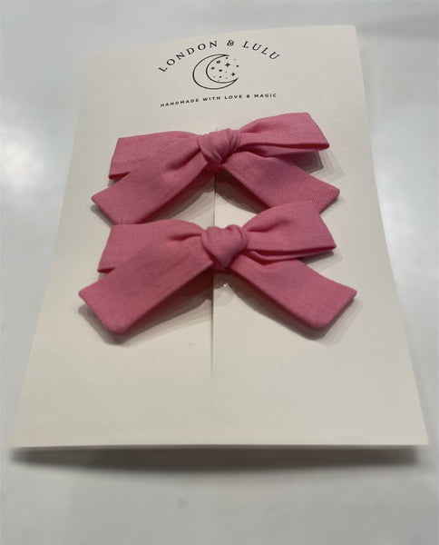 Knot Bow in Bubblegum by Baby Bling