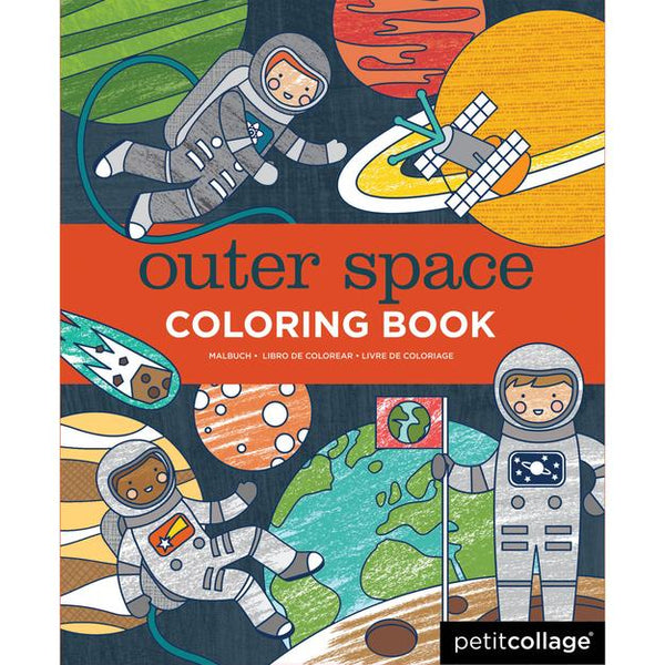 Petit Collage Outer Space Coloring Book | Sweet Threads