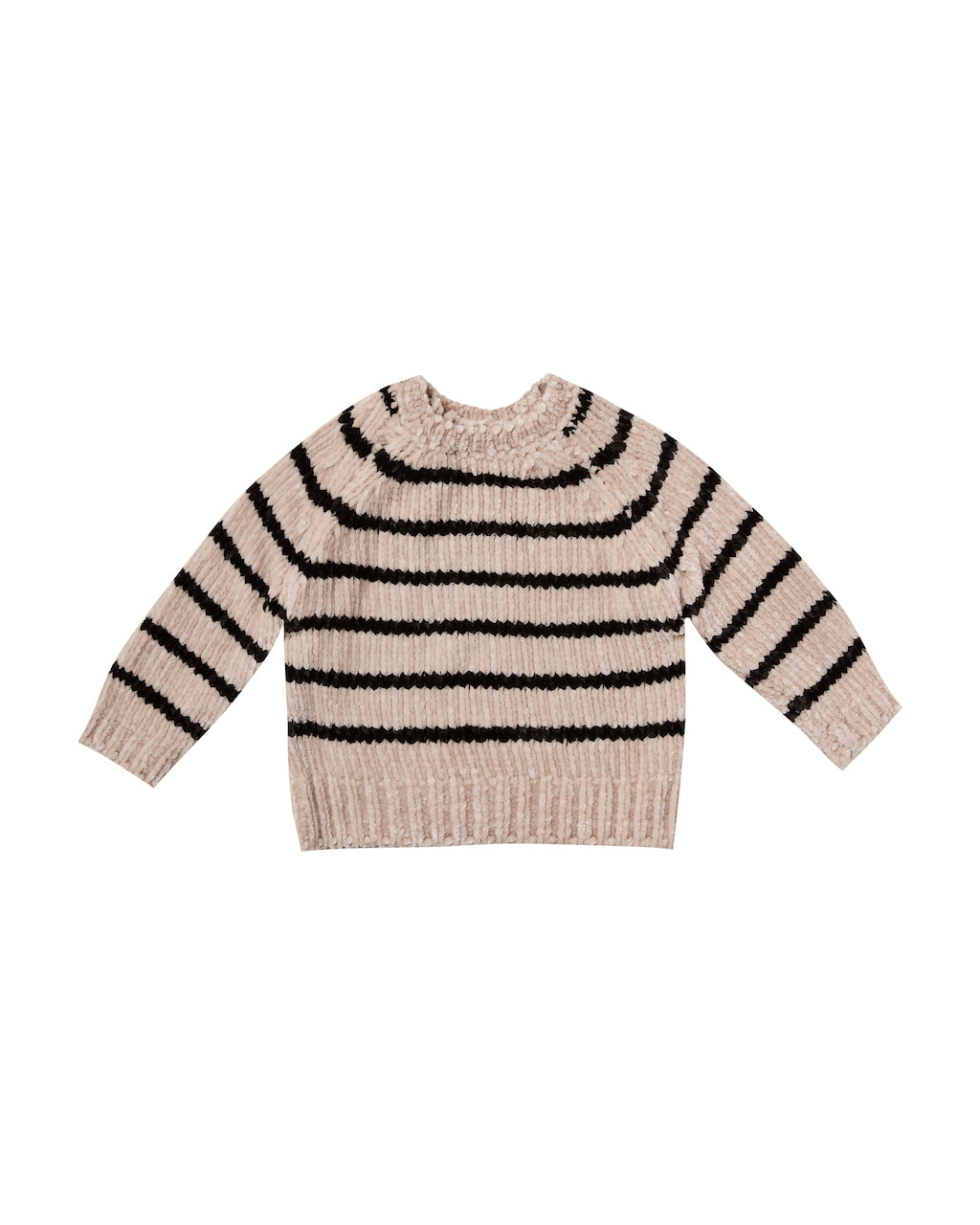 Rylee & Cru Striped Chenille Sweater in Oat