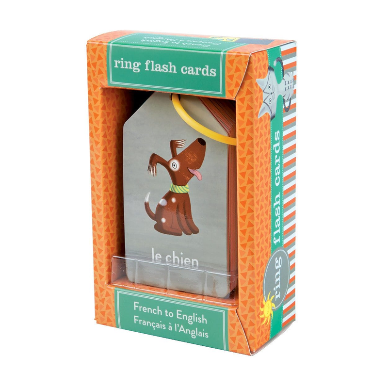 Mudpuppy French to English Ring Flash Cards | Sweet Threads